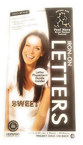 Flocked Letter -