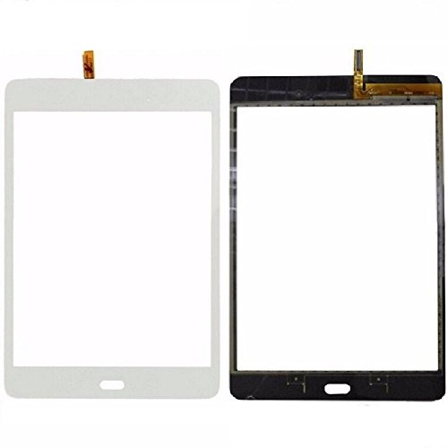 XR Market Compatible Samsung Galaxy Tab A 8.0 SM-T350 Screen Replacement, Touch Screen Glass Digitizer, with Adhesive (NOT for T380/T385/T355/T357 & No Earpiece Hole) White