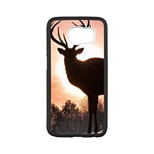 Samsung Galaxy S6 Cases, Elk Silhouette Cases for Samsung Galaxy S6 {White}