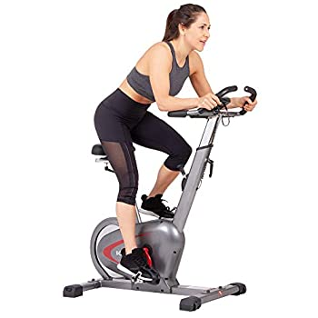 Image of Body Rider Indoor Upright Bike with Curve Crank Tech and Rear Drive Flywheel BCY6000, Grey/Black/Red Exercise Bikes