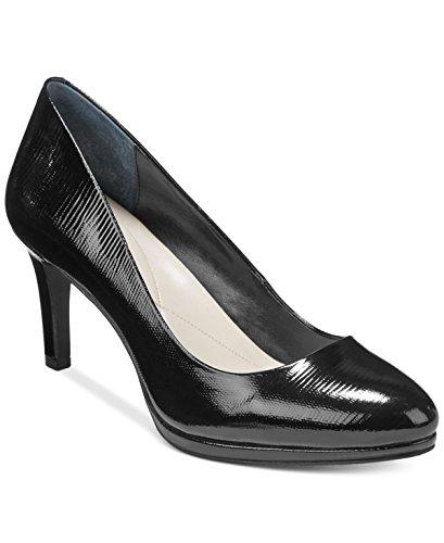Alfani Heels - Alfani Womens Glorria Closed Toe Classic Pumps, Black Patent, Size 10.0