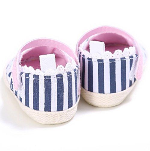 Bebé Prewalker Zapatos Auxma Primeros caminante de la princesa del niño del bebé zapatos Sandalias para 0-6 6-12 12-18 meses Rosado