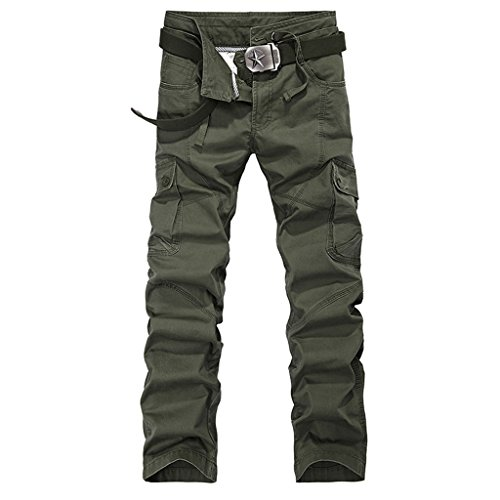 New Fashion 77 Double Waist Pants Promotion Men Cargo pants Military Army PANTS (Green Morph Mask)
