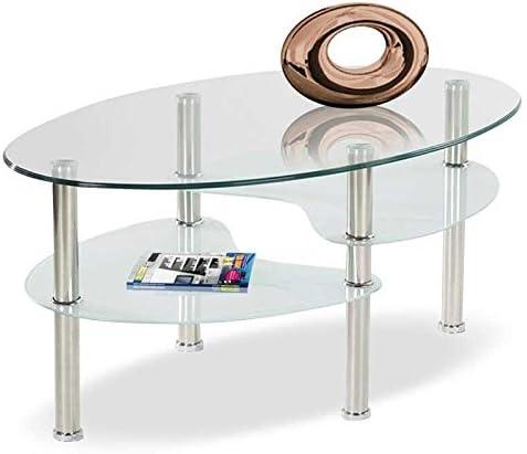 Muebles Baratos Mesa de Centro Ovalada de Cristal Templado Mesas ...