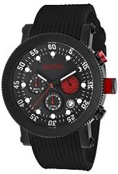 red line Men's RL-18101VD-01RD1-BB Compressor Black Textured/Black Silicone Watch