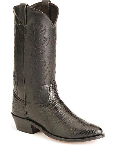 Old West Men's Lizard Printed Cowboy Boot Black 10 D(M) US