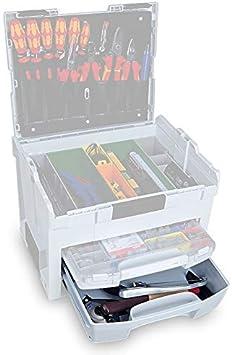 Kompatibel mit L-Boxx Bosch Werkzeugkoffer Leer Innovatives Transportsystem Bosch Sortimo i-Rack 3 Fach in Anthrazit f/ür Werkzeugkoffer