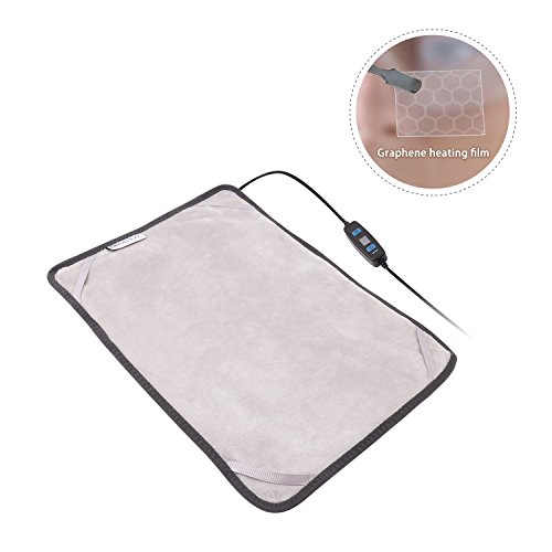 d Electric Heating Pad, 3 Heat-Settings/1 Hour Auto Off, 1215 Inches Small Heating Pad Wrap for Neck Shoulder Cramps Back Pain Relief(Updated Version) ()