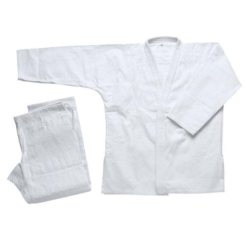 ホワイトシングル柔術着 - ホワイト - 1 B00OMCDRTI