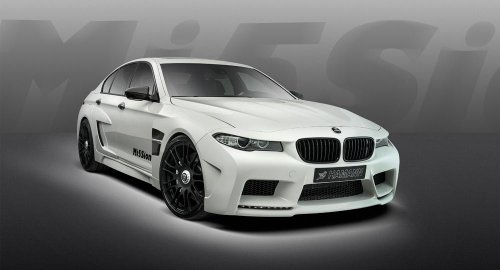 Hamann BMW M5 Mission Car Art Poster Print on 10 mil Archival Satin Paper White Front Side Studio View 36