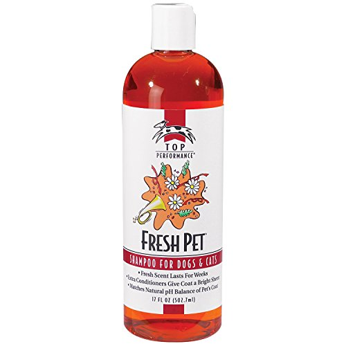 Top Performance Fresh Pet Shampoo Prevents Mats and Tangles - Matches Natural pH Balance of Pet's Coat and Skin, 17 Oz.