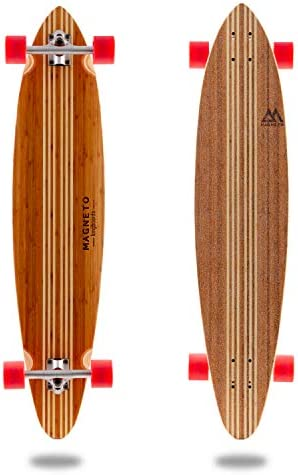 Hana Longboard Collection 42 inch Longboard Skateboards Bamboo with Hard Maple Core Cruising, Carving, Dancing, Freestyle