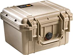 Pelican 1300 Case with Foam for Camera - Desert Tan