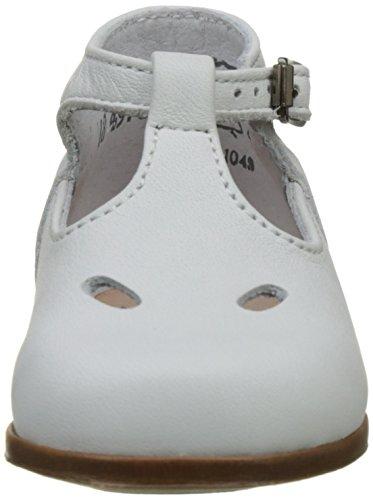 Little Mary Max - Zapatos de primeros pasos Bebé-Niñas Blanc (Sole Ro Blanc)