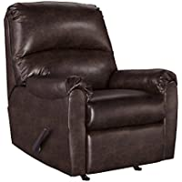 Ashley Furniture Signature Design - Talco Faux Leather Rocker Recliner - Contemporary - Burgundy