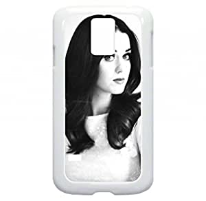 Katy Perry-Classic Black and White Photograph-Samsung Galaxy S5 I9600 - Hard white plastic snap on case.