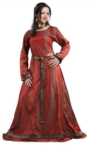 Armor Venue Isabel Silk Dress - Renaissance Gown Costume - Burgundy M ()