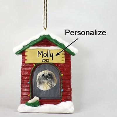 Animal-Den-Pekingese-Personalizable-Dog-House-Christmas-Ornament-Hand-Painted-Delightful