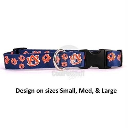Auburn Tigers Nylon Pet Collar - Pet Care Preferred Auburn Tigers Nylon Collar - Large