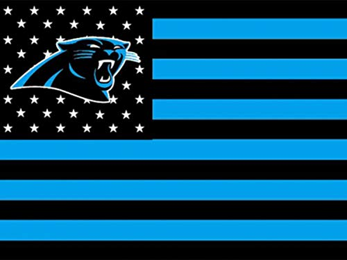 DIY 5D Diamond Painting Kits for Adults 20x28 lnch,Carolina Panthers Full Drill Diamond Painting Crystal Diamond Arts Crafts for Home Wall Decor,NFL Team Logo
