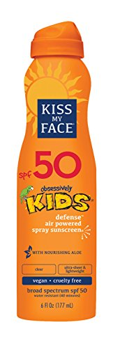 Kiss My Face Kids Defense Continuous Spray Sunscreen SPF 50 6 oz (Best Sunscreen For Your Face)