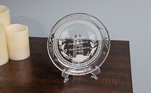 Trenton Gifts Sisters Crystal Plate - Plate Holder Not Included