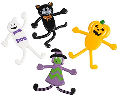 Classic Halloween Characters (48 Classic Halloween Characters Bendable Bendy Toy Figures Decoration)