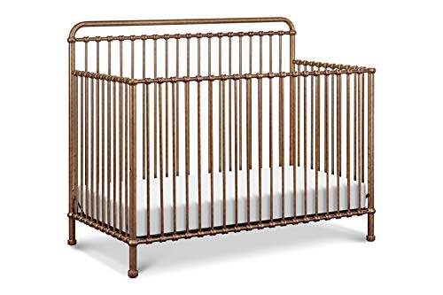 Million Dollar Baby Classic Winston 4-in-1 Convertible Crib, Vintage Gold