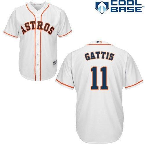 Evan Gattis Houston Astros #11 MLB Men's Cool Base Home