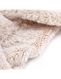 accsa Women Winter Soft Faux Fur Wrap Collar Shrug para abrigo de invierno