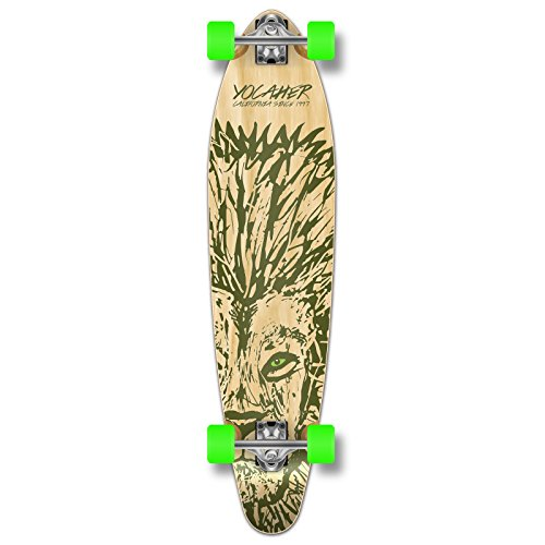 Yocaher Spirit Lion Longboard Complete Skateboard Cruiser - Available in All Shapes (Kicktail)