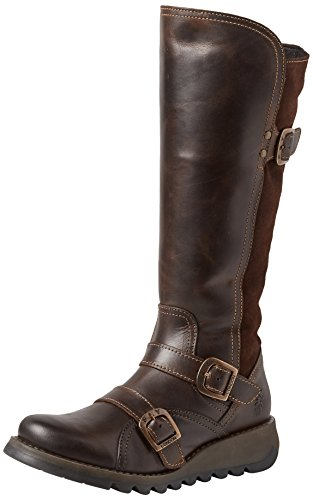 001 Estilo dk Suda361fly Para Brown Fly expresso Mujer London Marrón Motero Botas RqRPw7