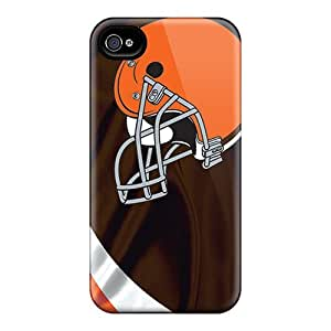 Premium Protection Cleveland Browns Case Cover For Iphone 4/4s- Retail Packaging BY icecream design