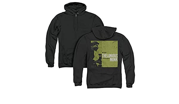 5919a544 Amazon.com: Thelonious Monk Work Unisex Adult Zipper Hoodie, Back Print:  Clothing