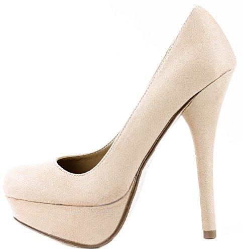 Platform Women's High Glt Almond H on Oatmeal Pat My Jones Pumps Shoes Toe IMSU Slip Heels Imsu Delicious UwvOSq7A