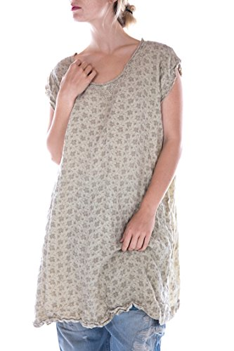 Magnolia Pearl French Linen Embroidered Orlena Sleeveless Dress, ()