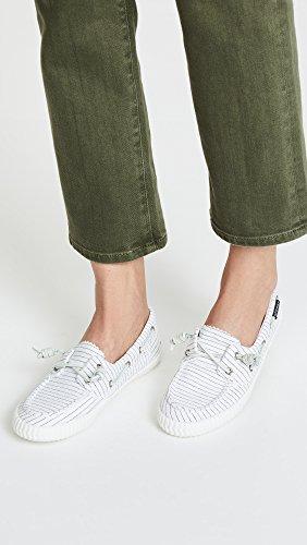 Top White Sider Black Women's Sperry Sneaker Away Sayel Pinstripe zwnqdgf