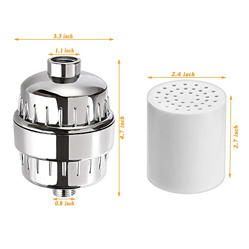 shower filter xiaoba 8 stage shower water filter chrome replacement cart. Black Bedroom Furniture Sets. Home Design Ideas