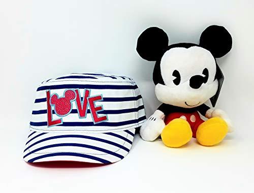 Bobble Head Plush - Disney Parks Mickey and Minnie Sweethearts Love Cadet Adult Cap with Mickey Bobble Head Plush