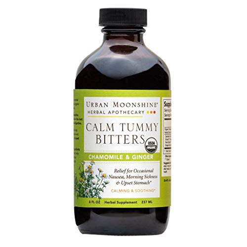 Urban Moonshine Calm Tummy Digestive Bitters, Organic Herbal Supplement with Chamomile & Ginger, 8 FL OZ (Pack of 1) Review