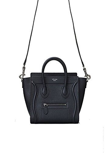celine medium luggage phanton bag in baby grained calfskin (black) ()