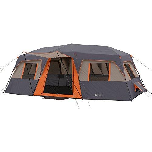 Ozark trail instant 20' x 10' cabin tent sleeps 12 orange WMT-201080