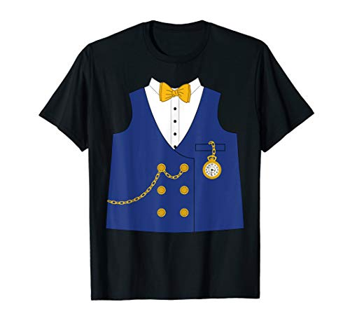 Banker Vest with Tie Pocket Watch Halloween Costume T Shirt -