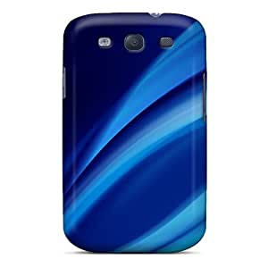 Excellent Design Blue Swirls Phone Case For Galaxy S3 Premium Tpu Case