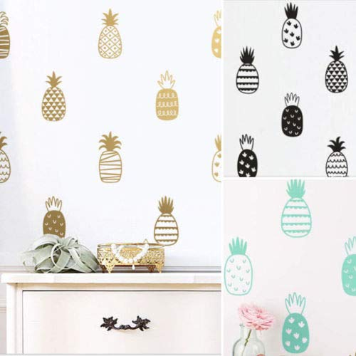 3d Cute Wall Paper Diy Pineapple Effect Pattern Self Adhesive Sticker Home Decor - Wall Stickers
