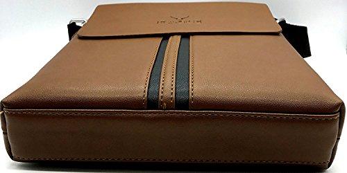 Eagle - Bolso al hombro para hombre marrón 6671 Model 311 Model