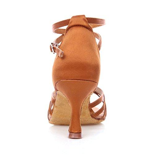Miyoopark 5cm 7 Brown salón Heel mujer wqwRP4rH