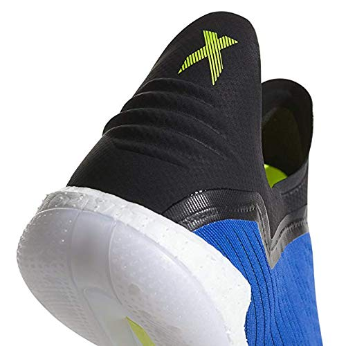 adidas Men's X Tango 18+ Indoor Soccer Shoes (7.5, Blue/Solar Yellow)
