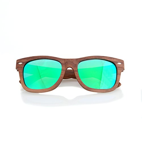 5fb849ff36 Walnut Wood Wooden Sunglasses by Shaderz - Vintage Retro Classic 100% Natural  Eco Friendly Handcrafted