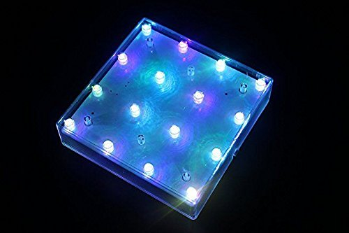 5 Square RGB LED Vase Base Light with 16 (Fleur Base Lamp Bases)